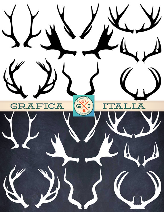 Moose Antler Silhouette : moose, antler, silhouette, ANTLER, ClipArt, Elements, Moose, Graficaitalia, Antlers,, Printable, Collage, Sheet,