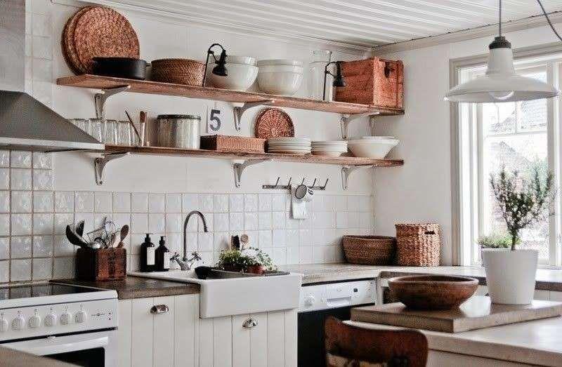 Resultado de imagen de estanteria cocina Cocinas Pinterest - estantes para cocina