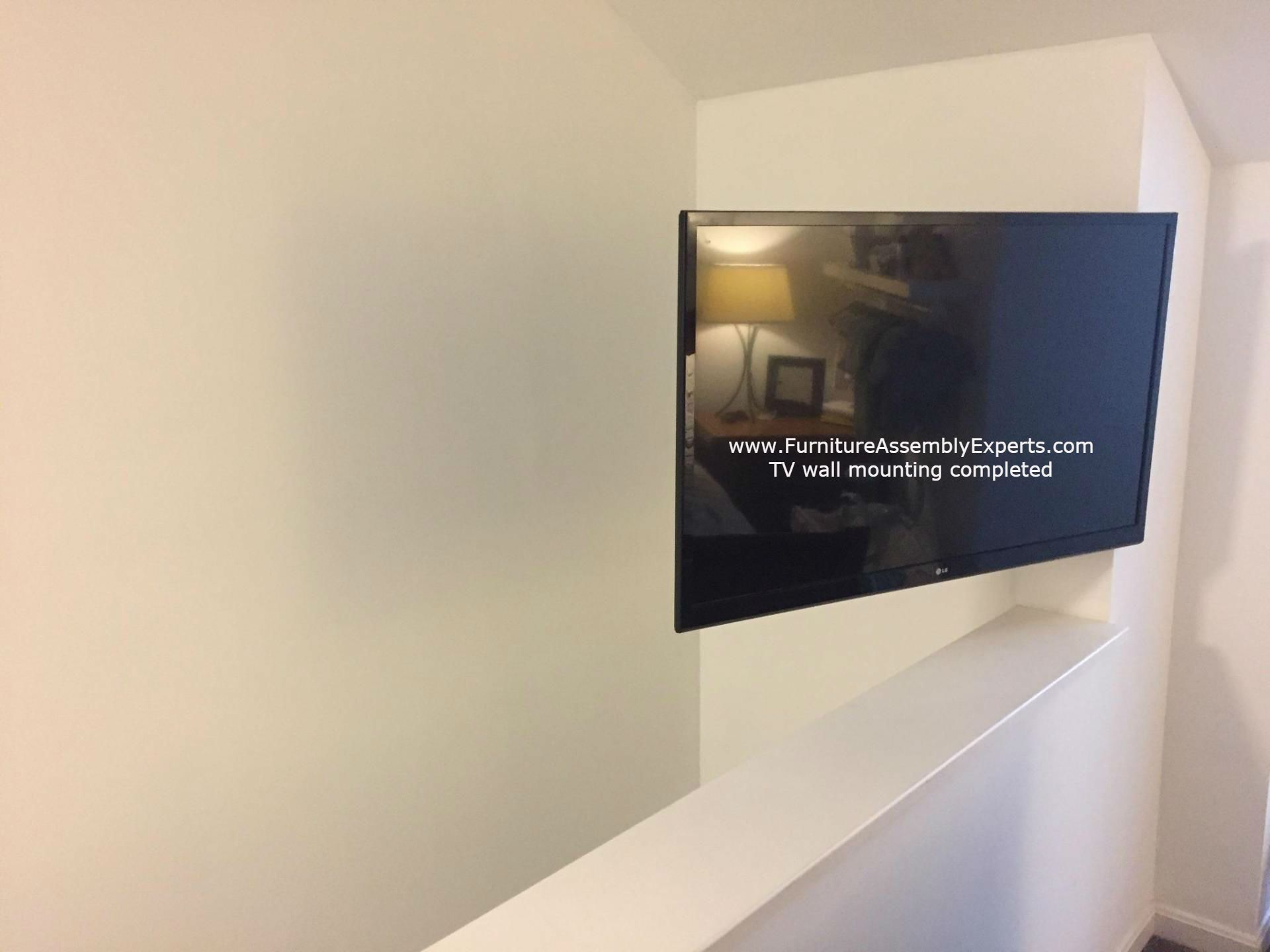 TV wall installation completed in catonsville Maryland. we provide TV wall installation service for customer