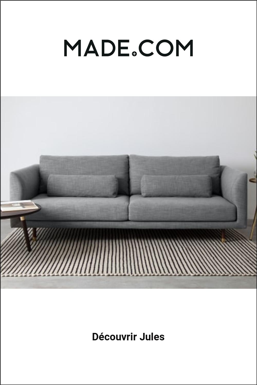 Made Com Canapes 3 Places Gris Furniture Sofa Home Decor