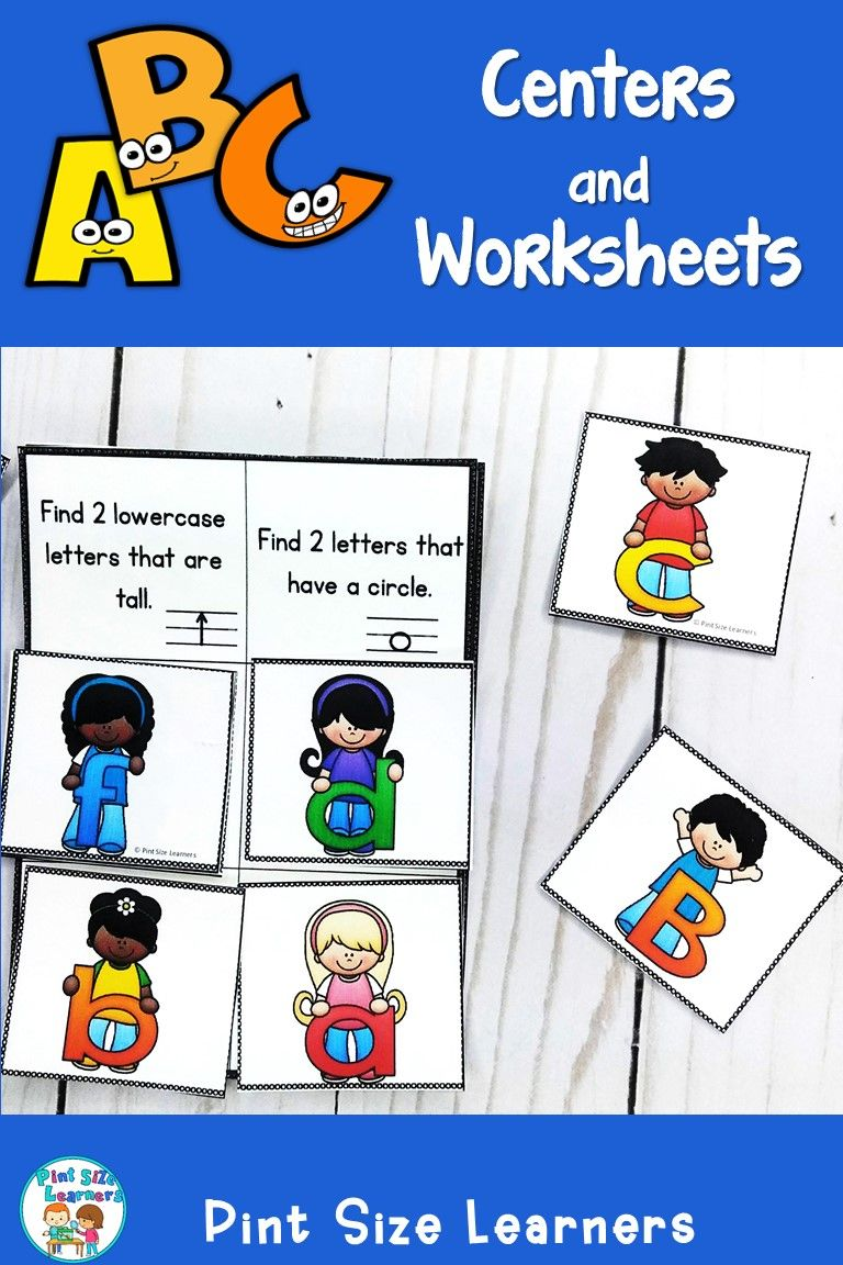 Everything Your Kindergarten And Pre K Students Will Need To Learn The Letter Names And Sounds Your Alphabet Centers Alphabet Unit Upper And Lowercase Letters [ 1152 x 768 Pixel ]