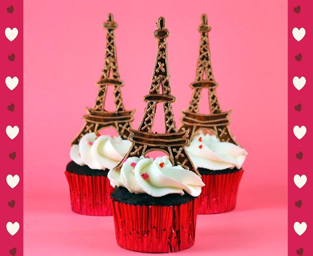 How To Make Eiffel Tower Cupcake Toppers Paris Cupcakes Cake