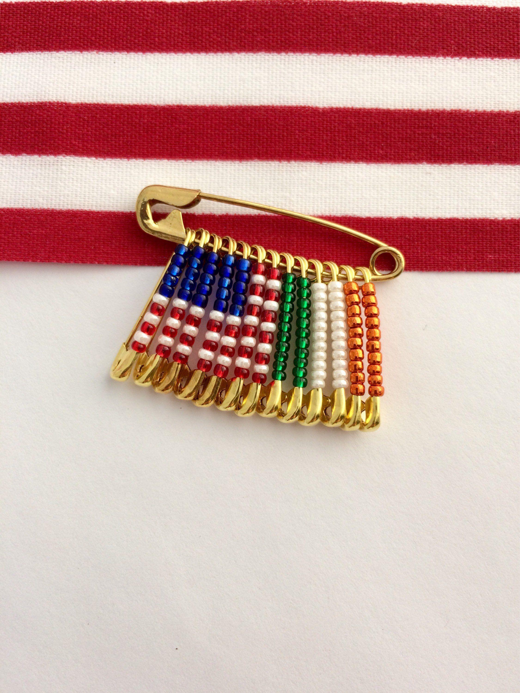 US Ireland Pin Handmade Pins Holiday Gift Birthday Gift