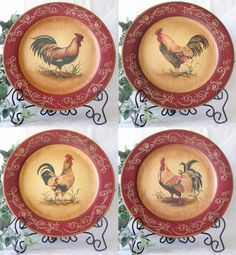 rooster plates - Google Search & rooster plates - Google Search | ***Rooster Love*** | Pinterest ...