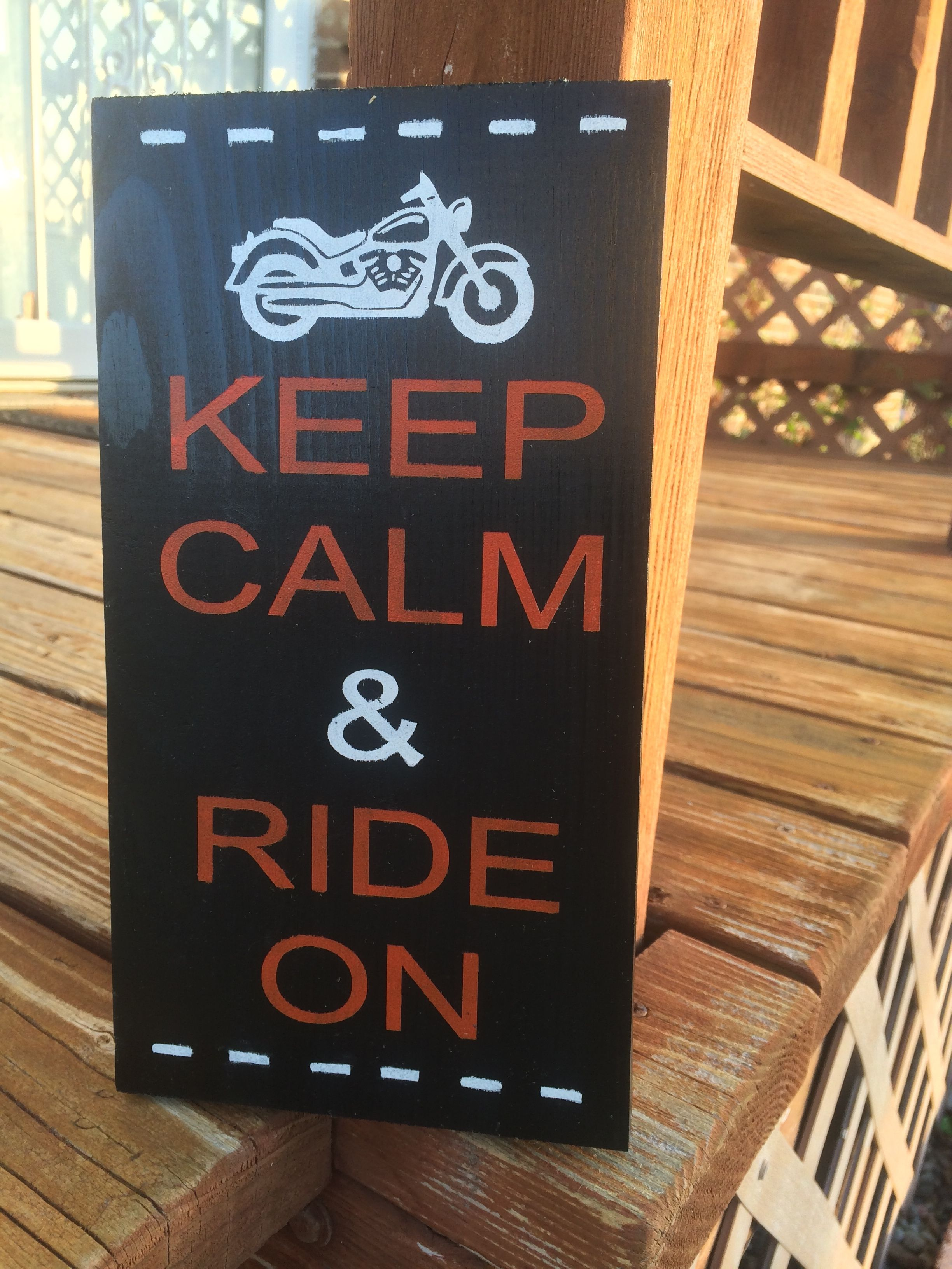 Keep Calm & Ride On,,, Stergis is coming up along with the nice weather! What a perfect way to start off Summer 2014!! Order yours at www.charliebsdesigns.etsy.com