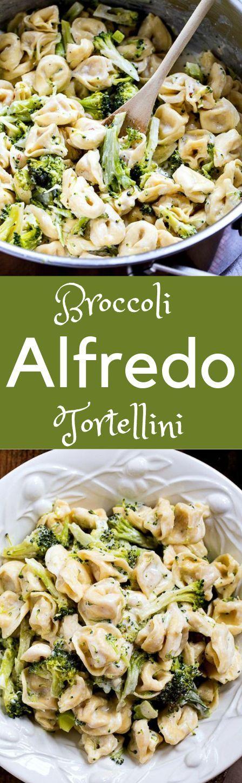 Brócoli Alfredo Tortellini brócoli /