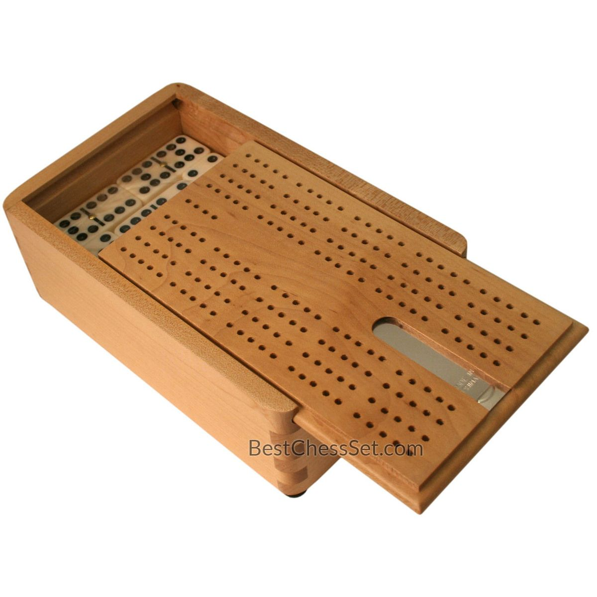 David Dominoes And Cribbage Board In Light Wood Domino Shaped Case Double Nine D9 Game Set 55 Urea Pieces Cribbage Cribbage Board Domino