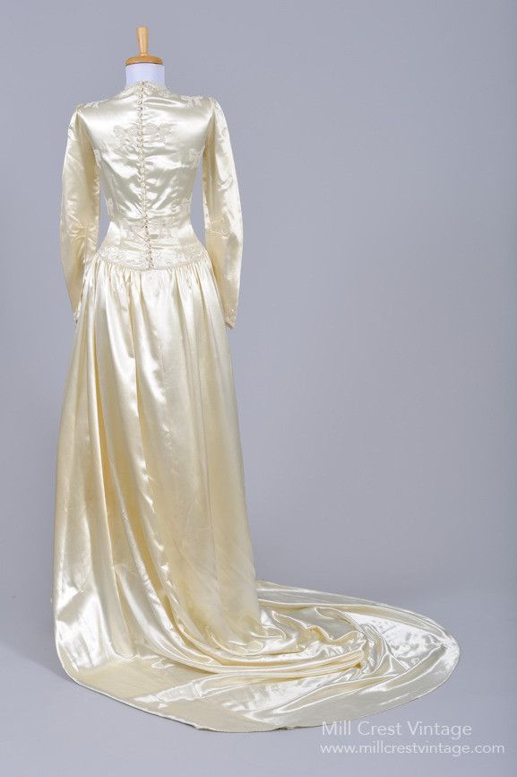 1940 Liquid Silk Vintage Wedding Gown
