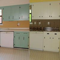 Shaker Kitchen Cabinet Update   Before And After   The DIY Girl