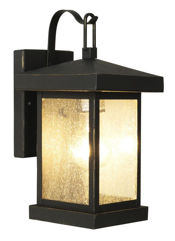 Trans Globe Lighting 45640 Asian Single Light Down Outdoor Square Wall Weather Bronze