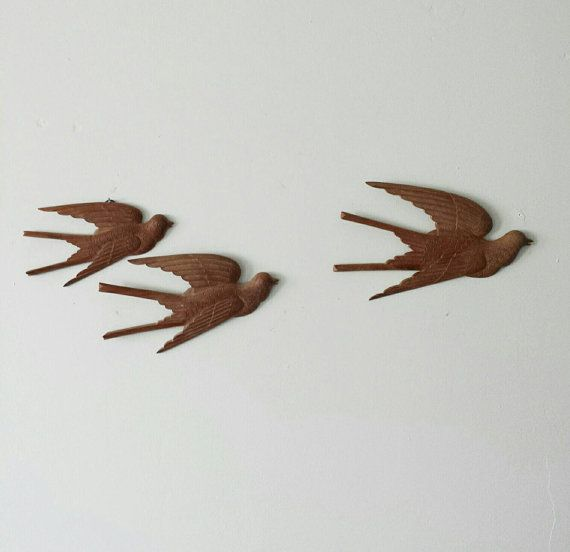 Reserved 4 Tim Wooden Birds Resin Wall Decor Hippie Wall Decor