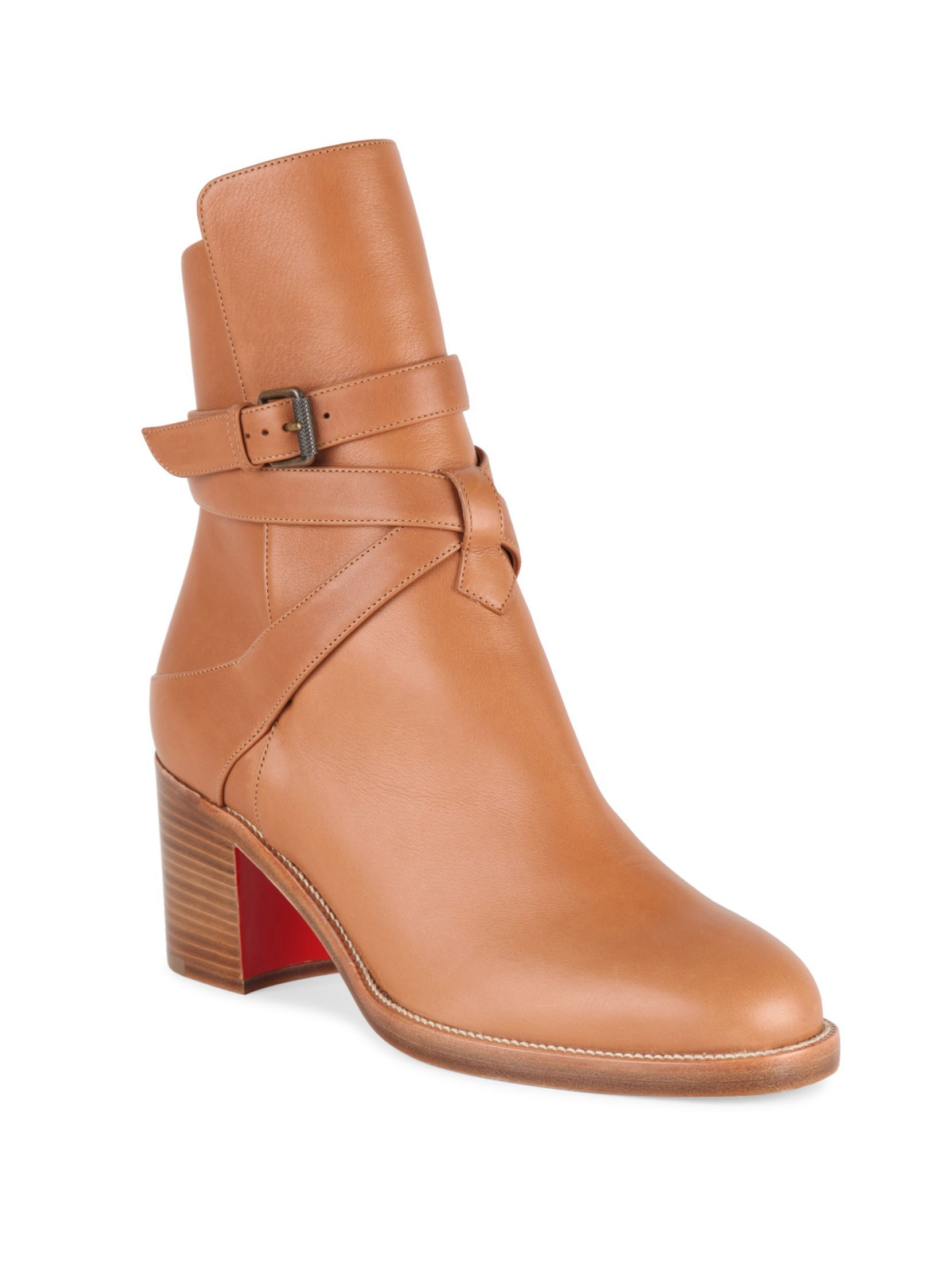 Leather · Christian Louboutin Karistrap 70 Leather Booties