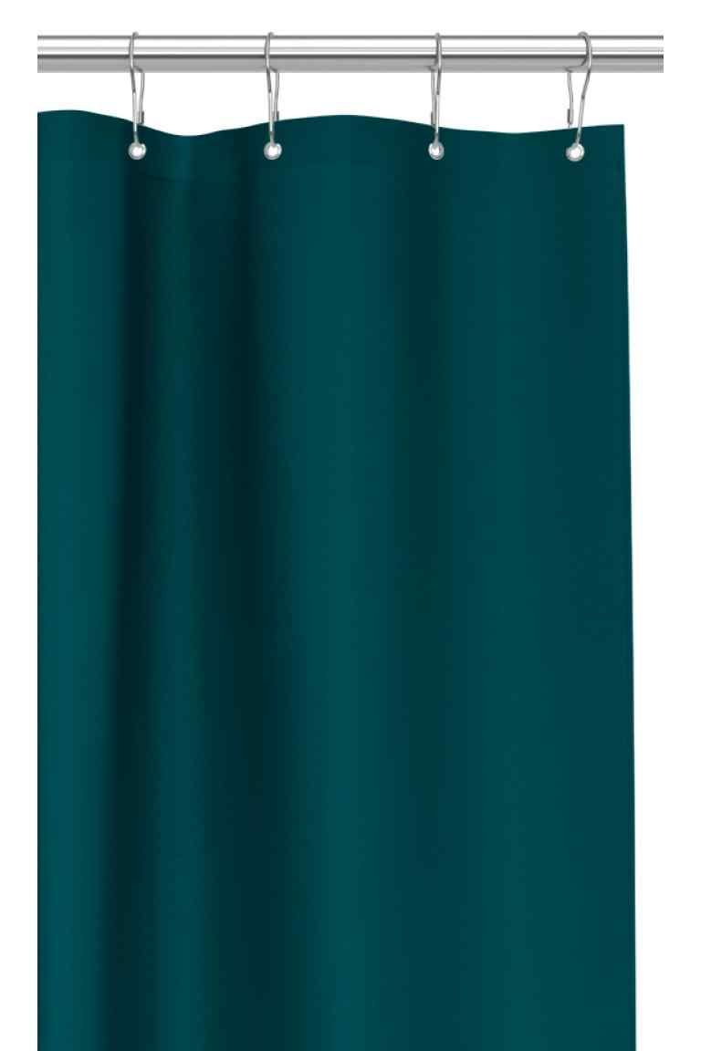 Shower Curtain Petrol Home All H M Basic Shower Curtain