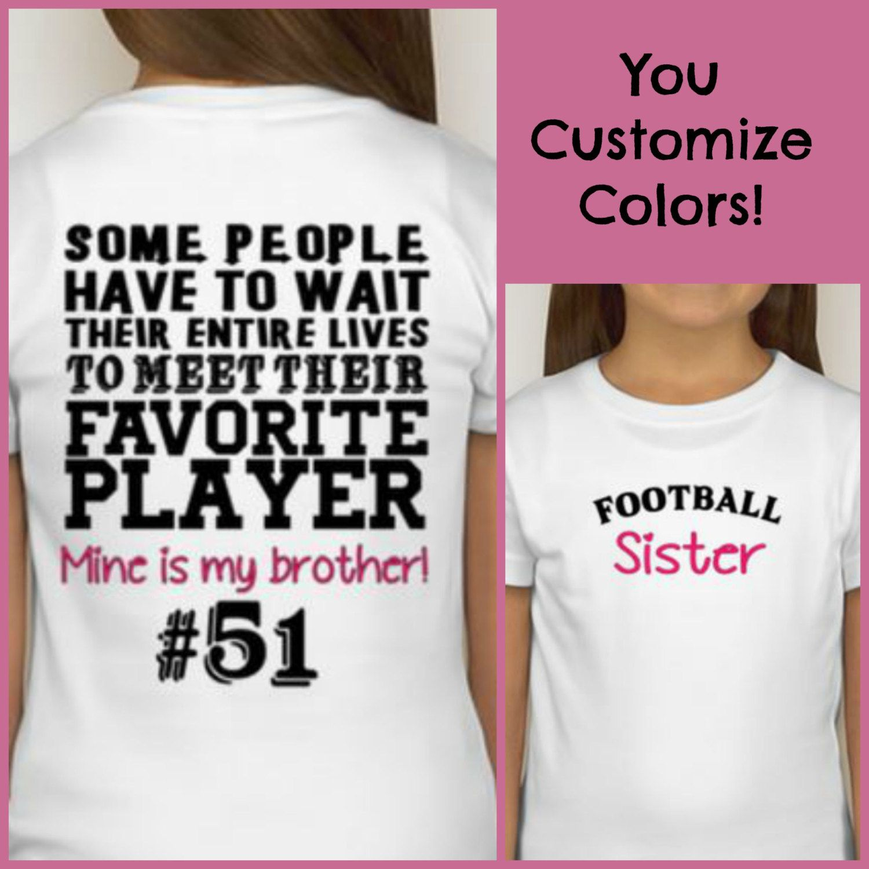 Football Sister t-shirt Proud Football Sister Shirt Sports Fan ...