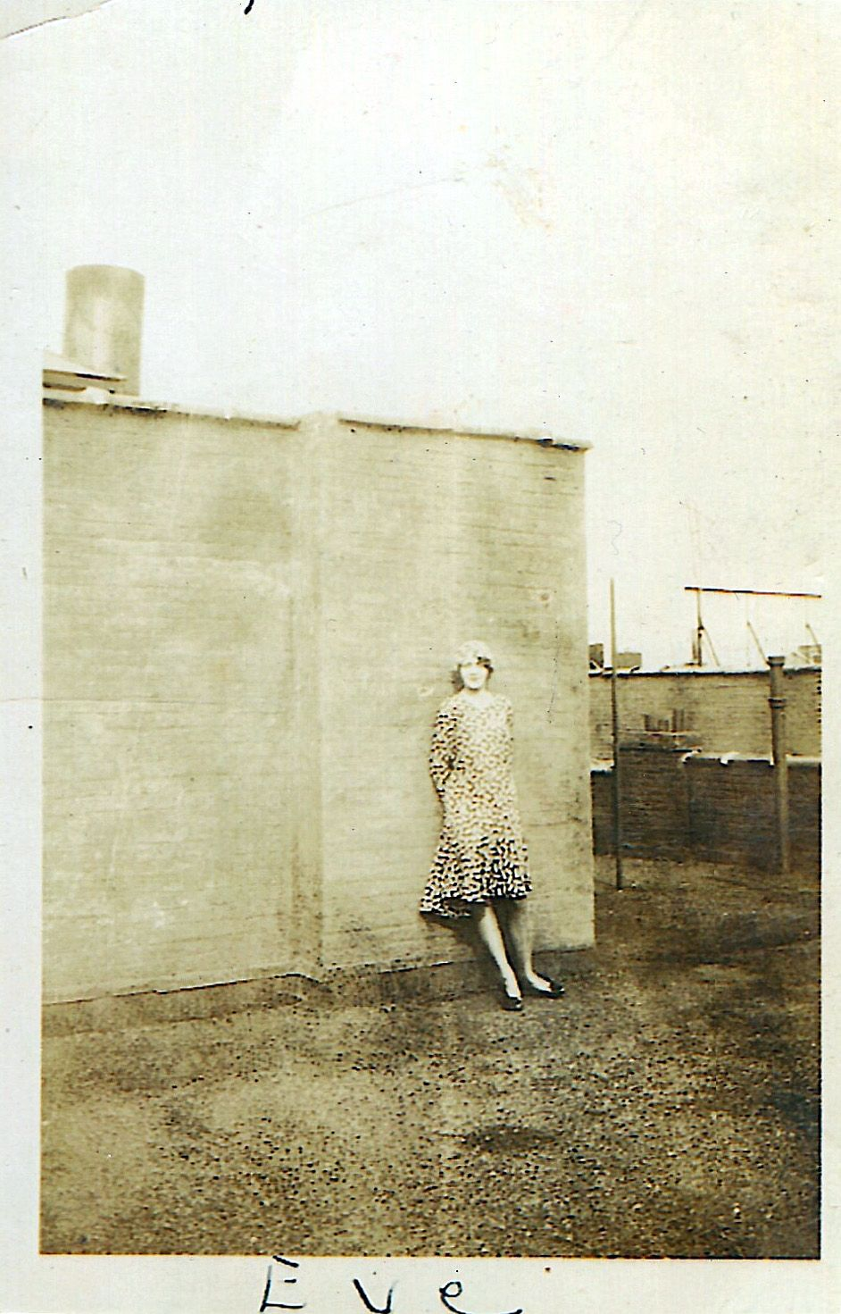 """My mom, Evelyn Lunden Heyer on the rooftop of an apartment in Brooklyn, NY @1930Mary Ann Heyer Sprankle (macs43@comcast.netAnyone know why other people's submissions show up as """"New York City Vintage"""" submitted?"""