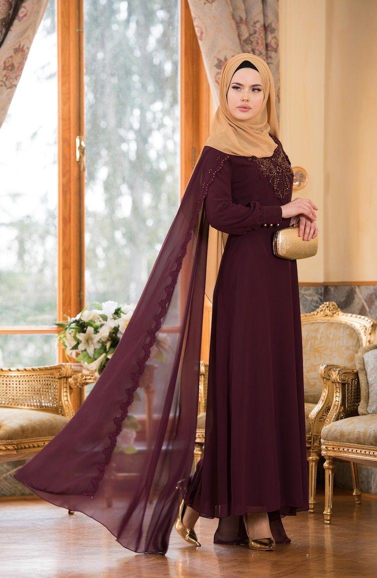 Sefamerve 2018 Pelerinli Tesettur Abiye Elbise Modelleri Elbise Modelleri Elbise The Dress