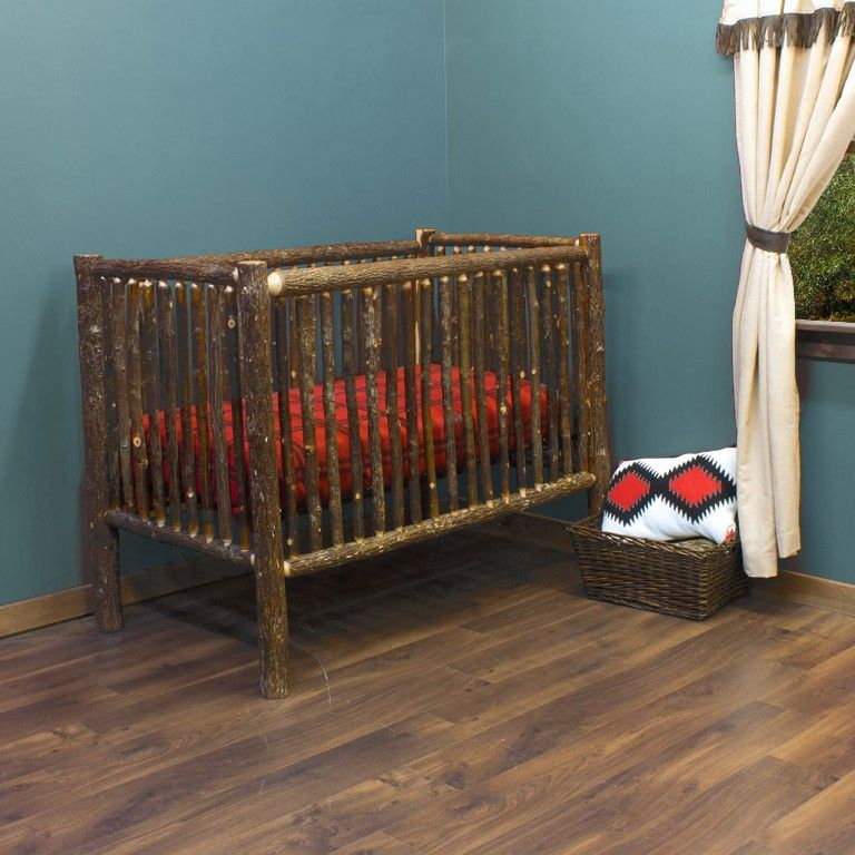 Hickory Log Baby Crib Jhe S Log Furniture Place