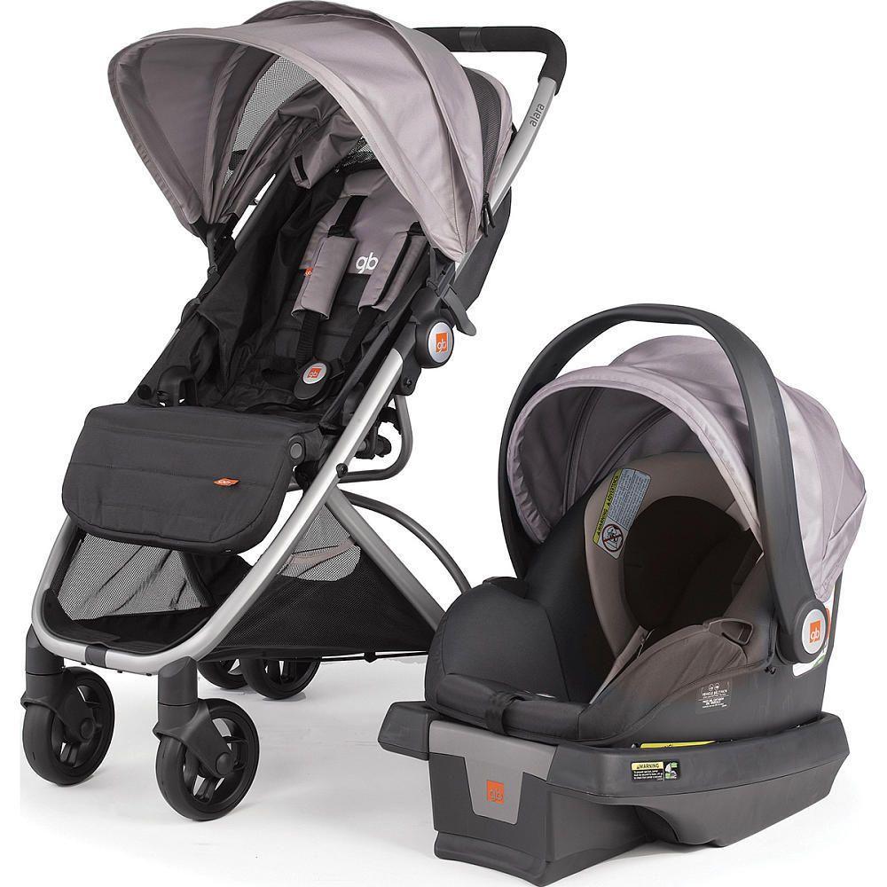 gb Alara Travel System Stroller and Asana35 Infant Car Seat - Mink