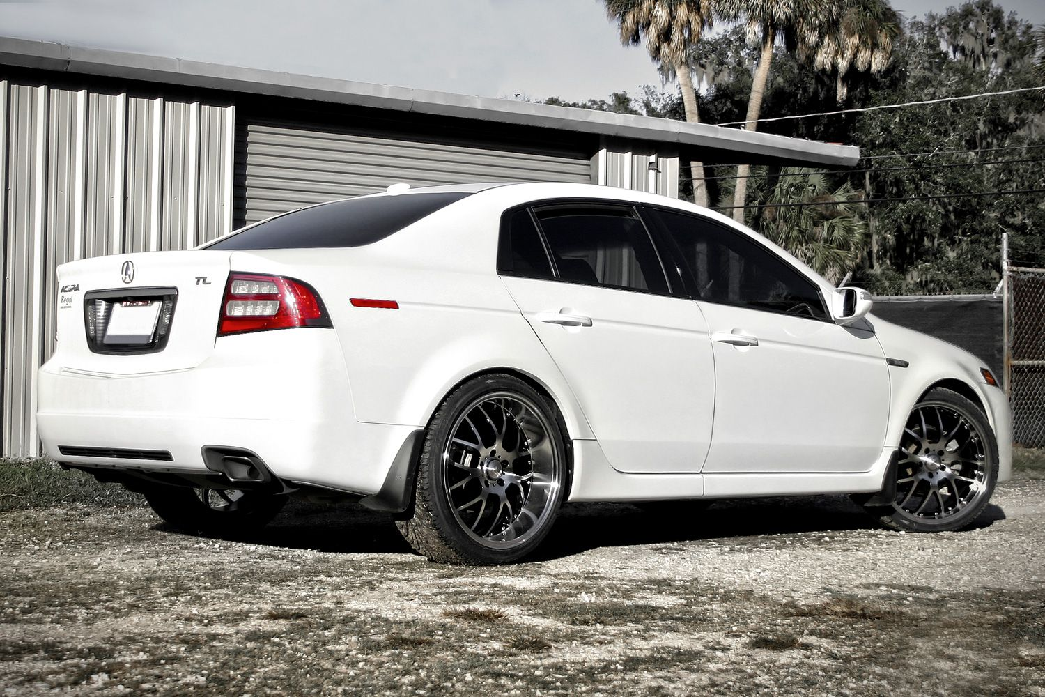 Msr gloss black with machined face and lip on acura tl