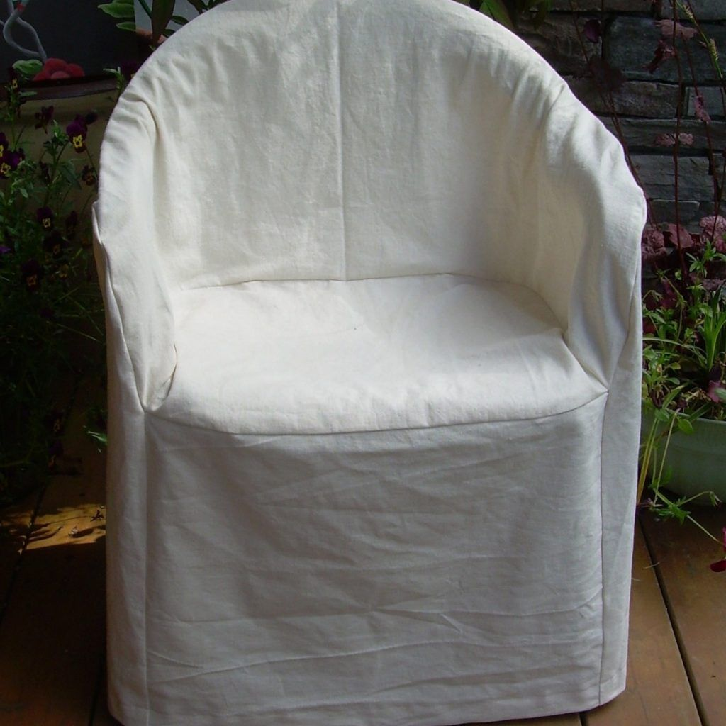 1 Linen Cotton Resin Chair Slipcover Patio By Nikkidesigns On Etsy