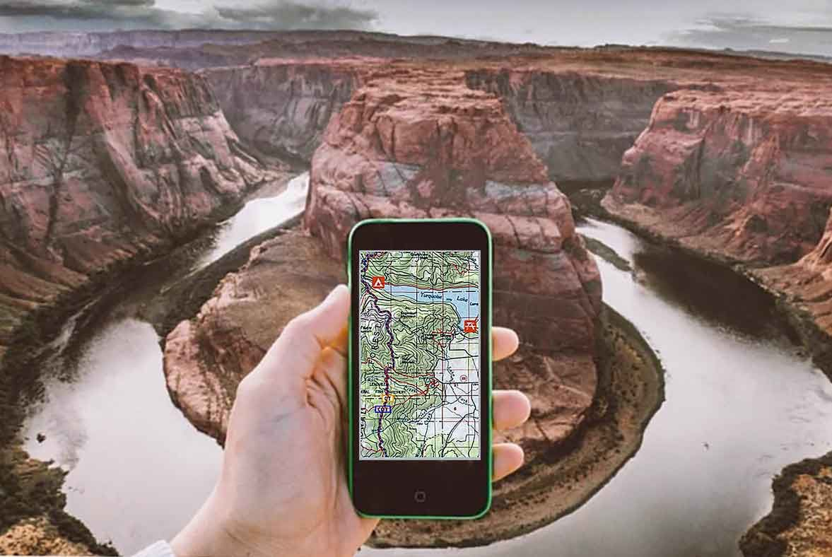 No cell service required, a new smartphone app dubbed 'ROAM' turns your phone into a high-powered, reliable GPS device.