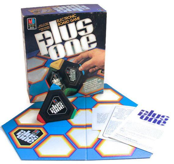 Plus One Electronic Board Game, Vintage Milton Bradley Board Game, 1980s Board Game, Vintage Electronic Game