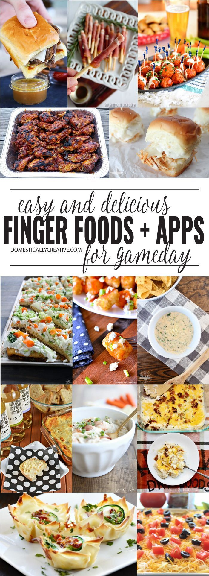 Easy Finger Foods and Appetizers for Game Day! Healthy