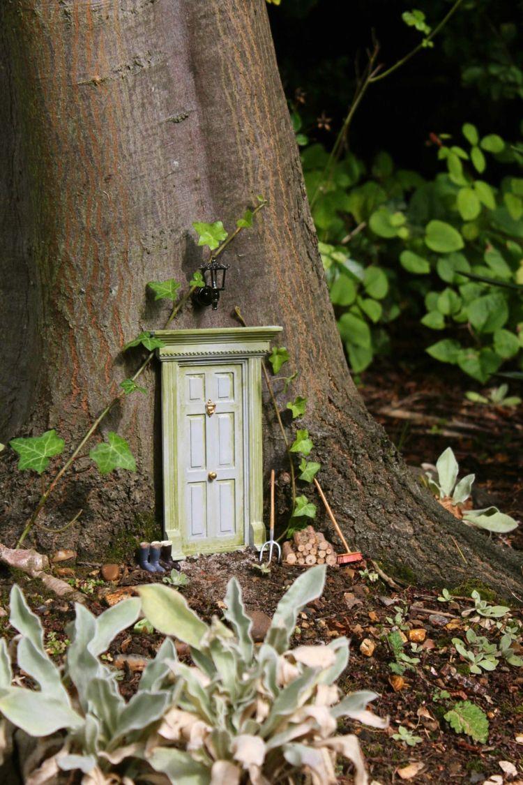 Selber Machen Gartendeko Haus Fee Basteln Originell Weiss Holz