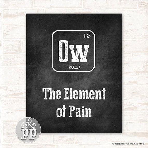 Periodic table ow the element of pain typographic chalkboard funny periodic table um the element of confusion typographic funny quote chalkboard wall decor teacher art urtaz Image collections