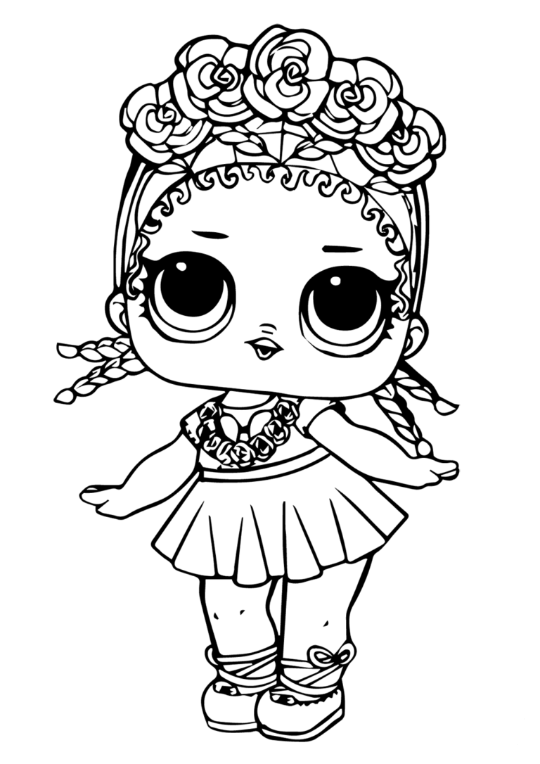 Lol Surprise Doll Coloring Sheets Coconut Q T Livi 6th