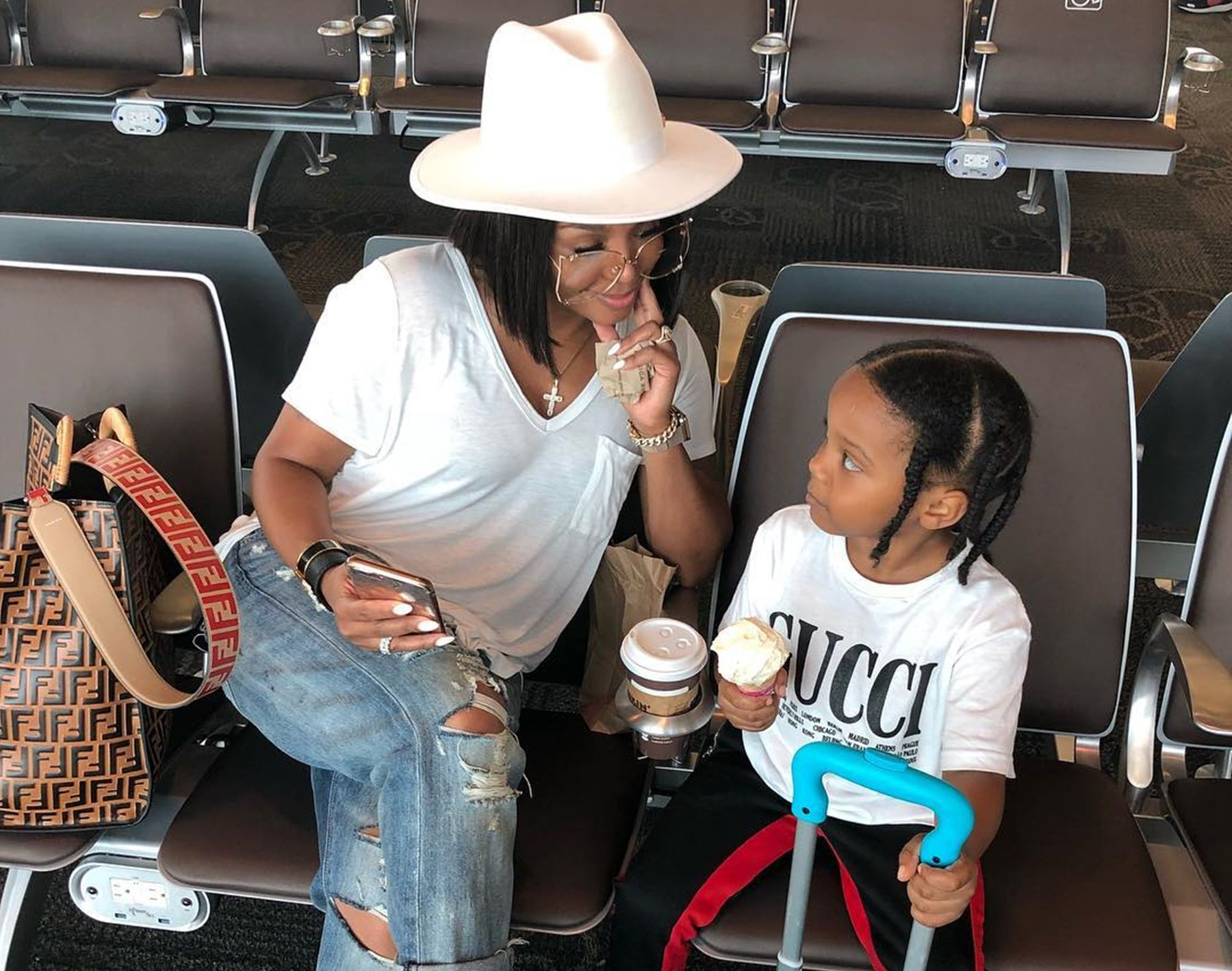 Rasheeda Frost Gets A Thumbs-Up From Karter For Her Latest Fashion Choices In New Photo — Some Fans Think Kirk's Wife Is Pregnant