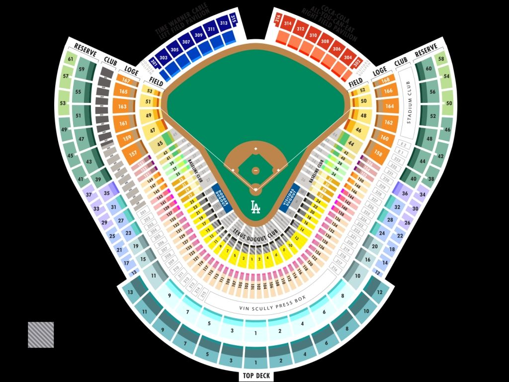 Dodgers Right Field Pavilion Seating Chart Dodger Stadium Seating Chart Dodger Stadium Seating Charts