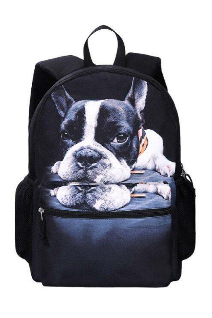 ab3737297f20 Harajuku 3D Lonely Dog Backpack