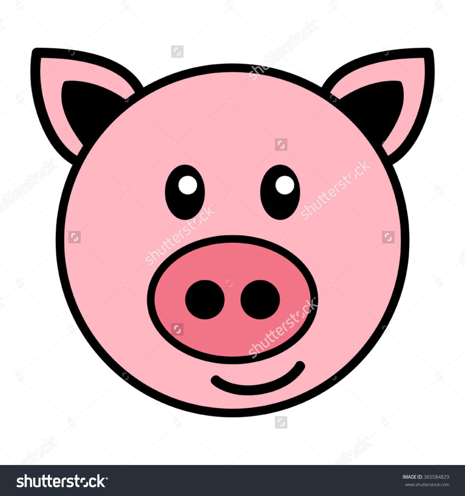 Image Result For Simple Cartoon Pig Face Rock Art Pinterest
