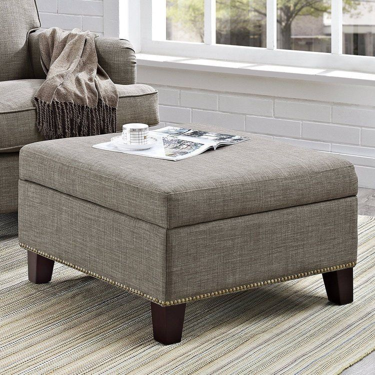 Details About Leather Storage Ottoman Bench Foot Stool