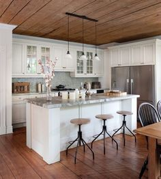 Kitchens With Wood Ceilings Google Search