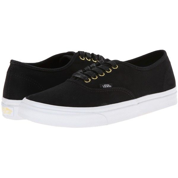 Vans Authentic Slim Navy) Skate Shoes, Black (775 UAH) ❤ liked on Polyvore featuring shoes, black, vans shoes, skate shoes, kohl womens shoes, cushioned running shoes et slim shoes