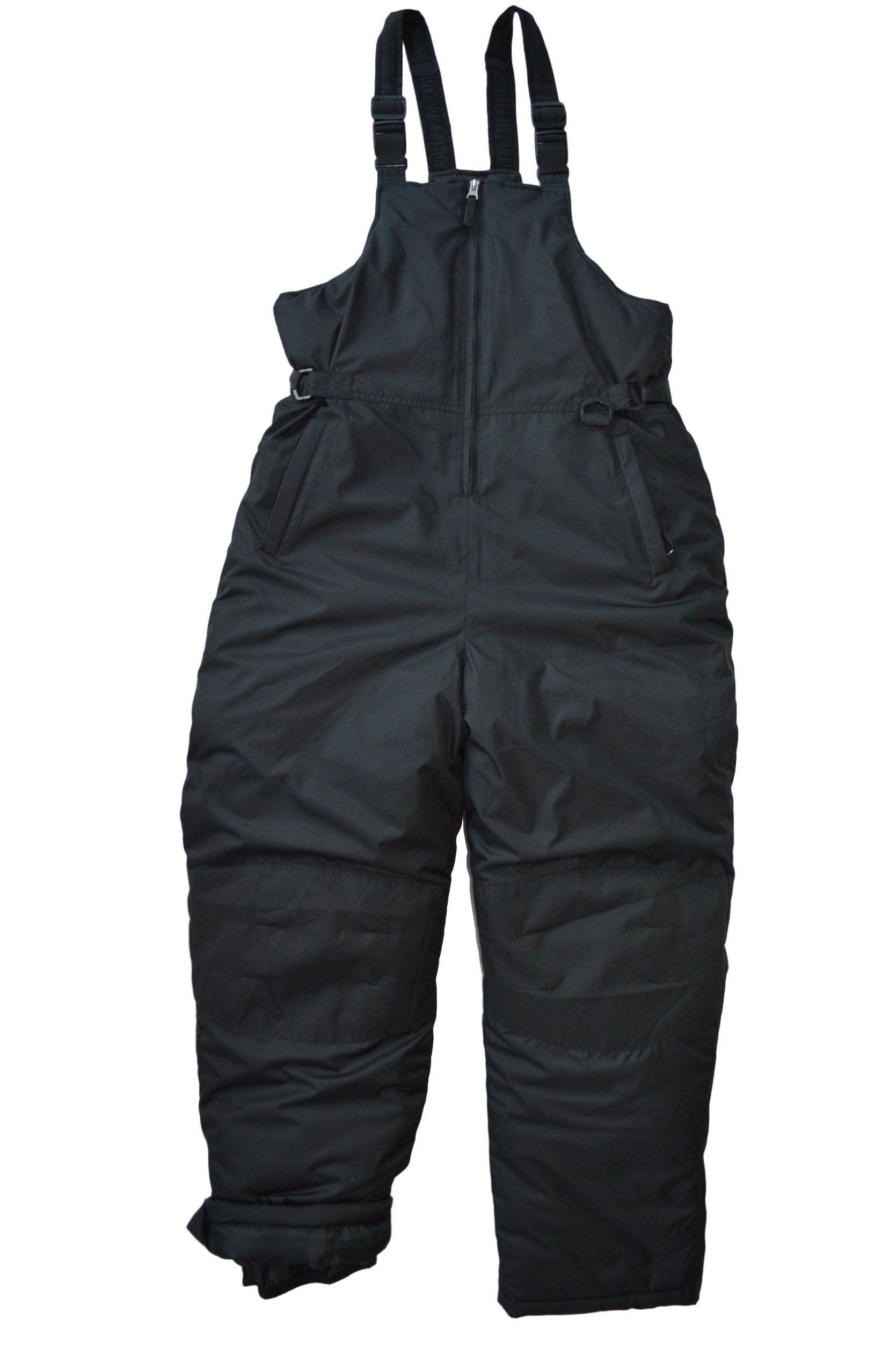 8b8f11ccc Snowsuits for Kids Youth Husky Insulated Bib Snow Pants Black (12-14 ...