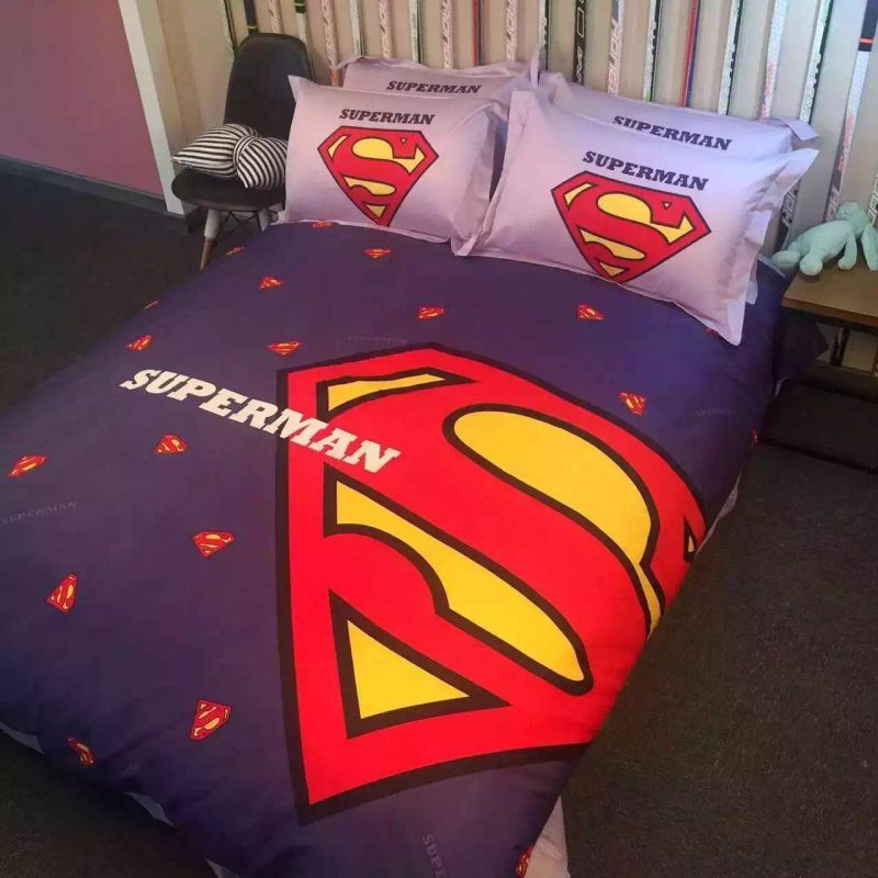Superman Bedding Set With Images Bed Bedding Sets Grey Queen