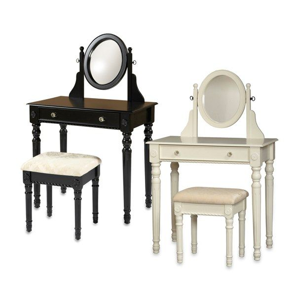 Lorraine White Vanity Set Bed Bath Beyond Meble