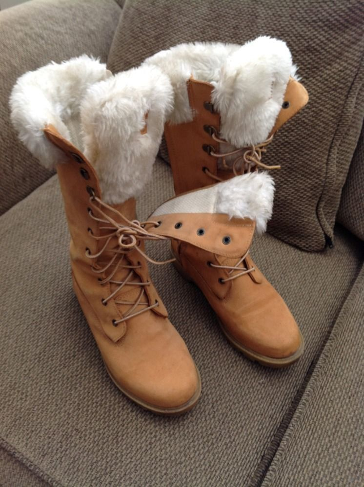 timberland knee high boots for with white fur size
