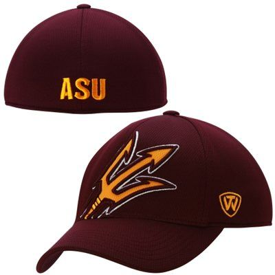 online store f0948 c7d01 Arizona State Sun Devils Top of the World Offsides Memory Fit Flex Hat – Red