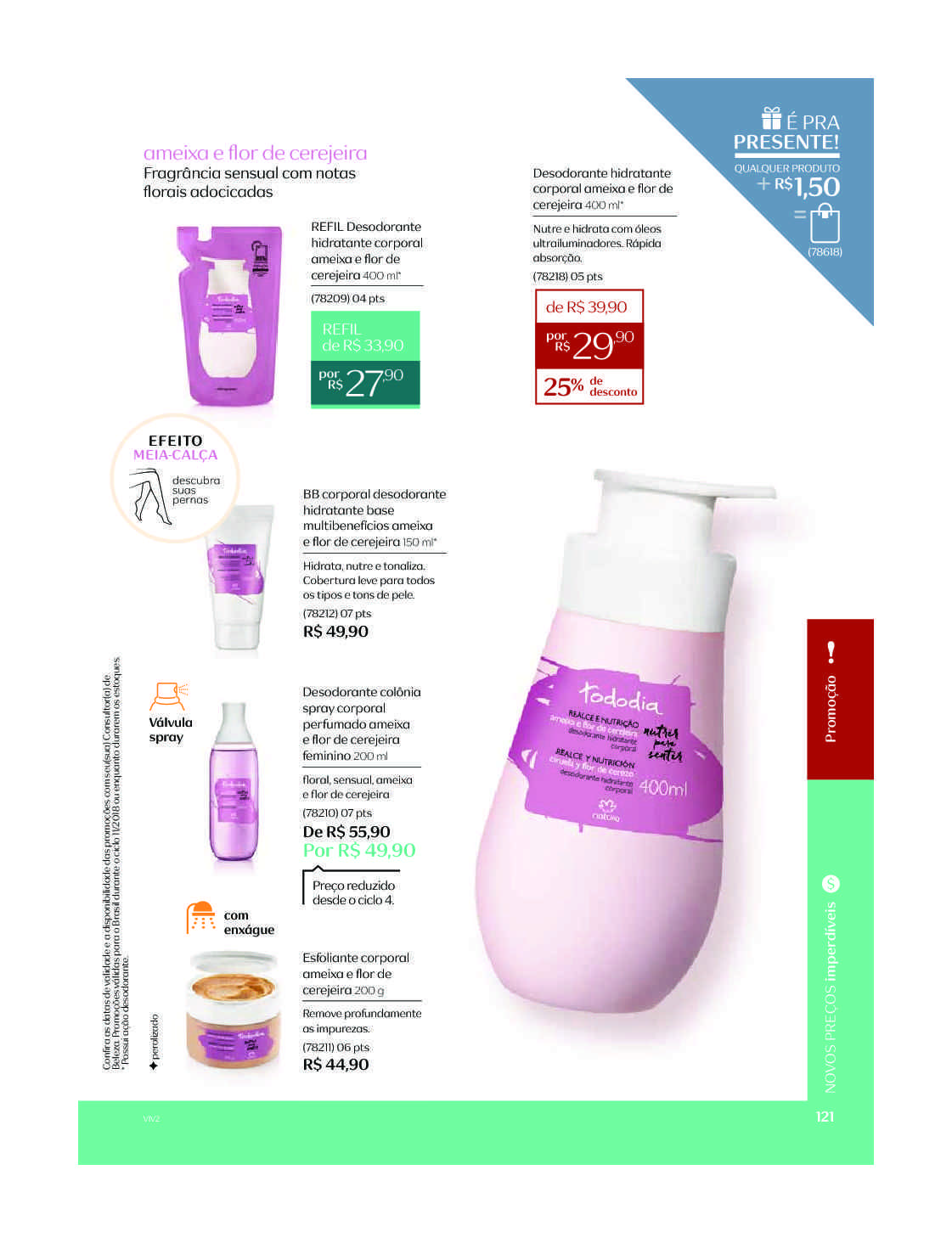 Espaco Natura C11 V2 Natura Spray Corporal Desodorante E