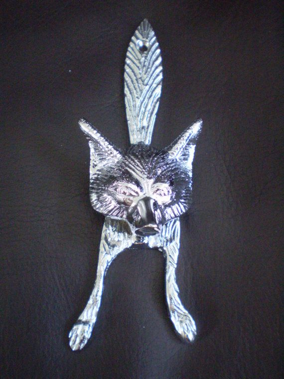 Silver Fox Door Knocker & Silver Fox Door Knocker | Foxes and Doors