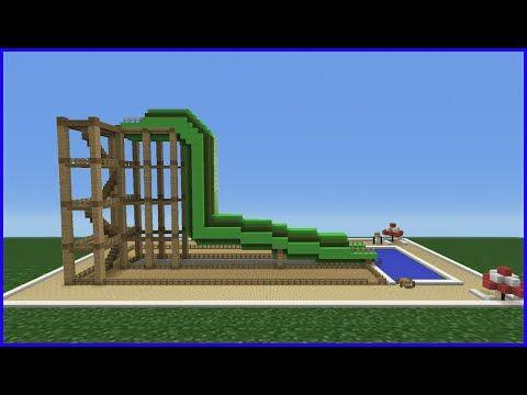 Minecraft Tutorial How To Make A Tube Water Slide Mini Water