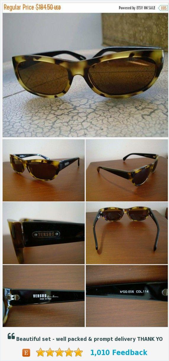 8204cd8f0a0f Now On Sale GIANNI VERSACE Versus Sunglasses Vintage Mod. EO5 Col. 114  Vintage Hipster