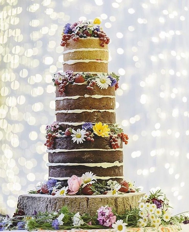 Naked wedding cake #weddingcake #weddingcakes #wedding #nakedweddingcake #weddings