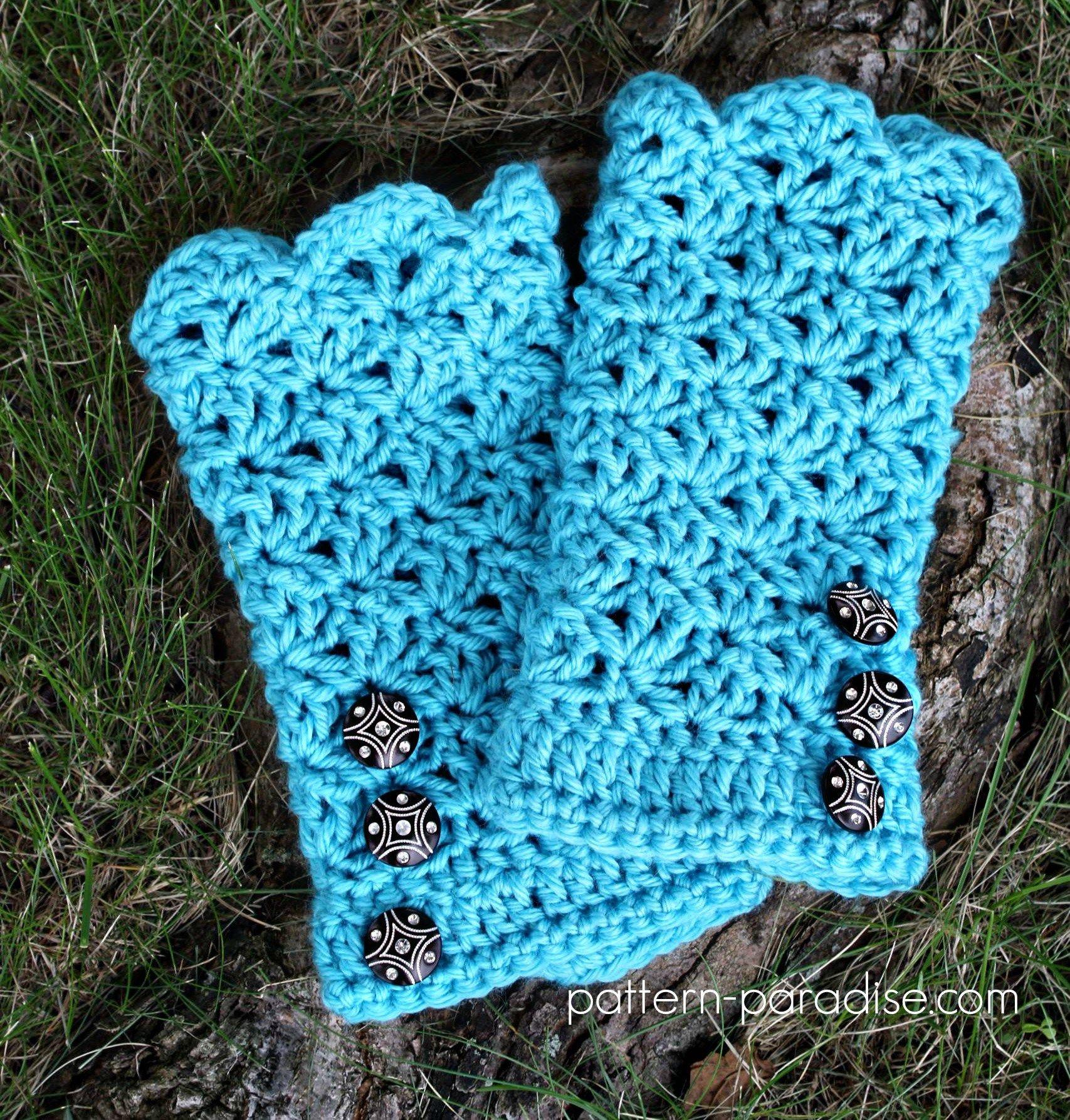 12WeeksChristmasCAL Glamour Gloves by Pattern-Paradise.com   Tığ işi ...