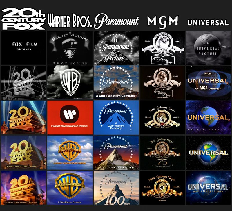 Here S How The Major Movie Studios Logos Have Changed Over Time Movie Studio Studio Logo Paramount Pictures Logo