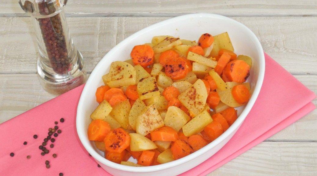 navets et carottes caramelisées au miel